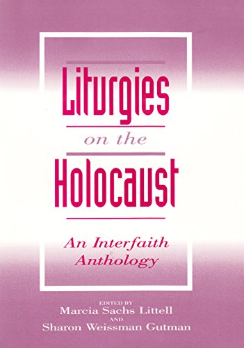 Liturgies on the Holocaust By Marcia Sachs Littell