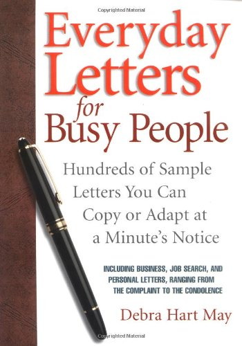 Everyday Letters for Busy People By Debra Hart May
