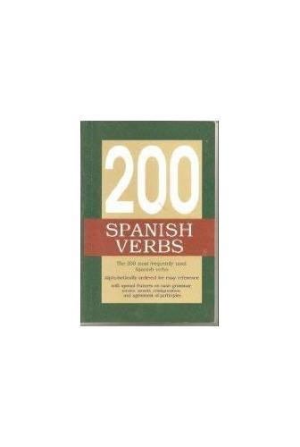 200 Spanish Verbs By Lexus