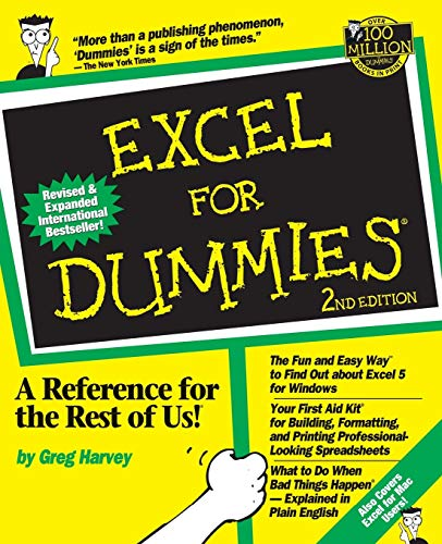 Excel For Dummies by Greg Harvey