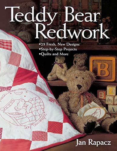 Teddy Bear Redwork By Jan Rapacz