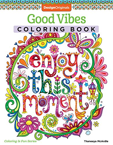 Design Originals Good Vibes Coloring Book (Coloring Activity Book) (Coloring Is Fun), Multicoloured By Thaneeya McArdle