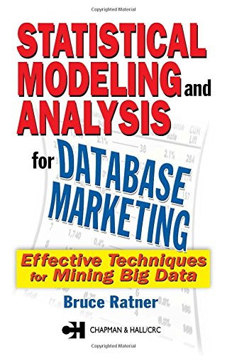 Statistical Modeling and Analysis for Database Marketing By Bruce Ratner (DM STAT-1 Consulting, New York, New York, USA)