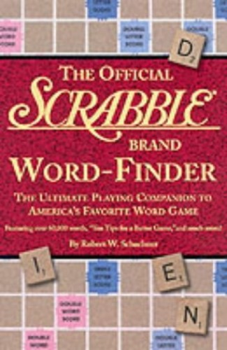 The Official Scrabble Brand Word-finder By Robert W. Schachner