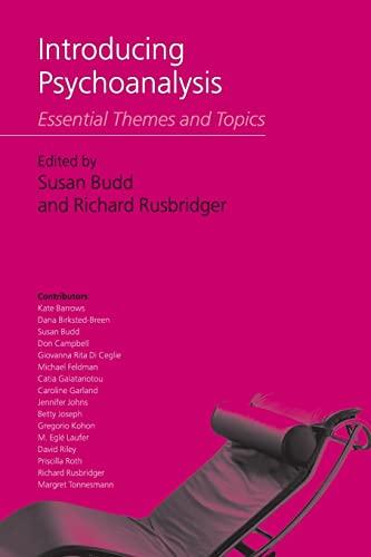 Introducing Psychoanalysis By Edited by Susan Budd