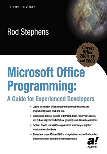Microsoft Office Programming By Rod Stephens