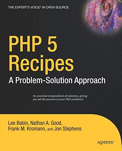 PHP 5 Recipes By Frank M. Kromann