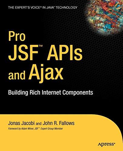Pro JSF and Ajax By Jonas Jacobi