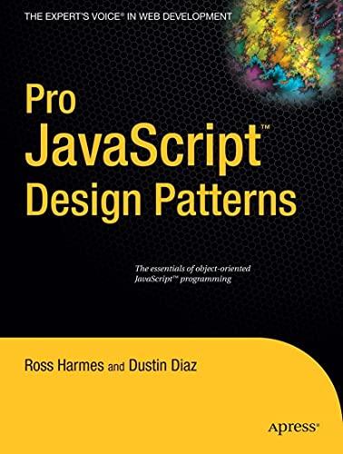 Pro JavaScript Design Patterns By Dustin Diaz