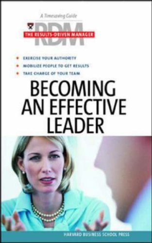 Becoming an Effective Leader By Other primary creator Harvard Business School Press