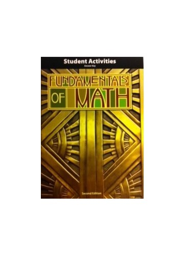 Fundamentals of Math Activity Manual Answer Key 2nd ...