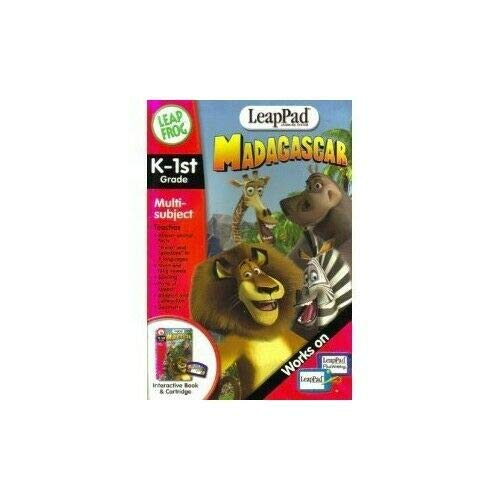Madagascar, K-1st Grade (Leap Pad Learning System) By Leap Frog
