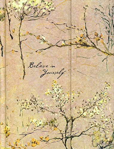 Journal Fold-Over Believe in Yourself Beige by Peter Pauper Press