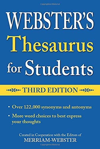 Webster's Thesaurus for Students By Merriam-Webster