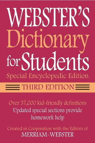 Webster's Dictionary for Students By Merriam-Webster