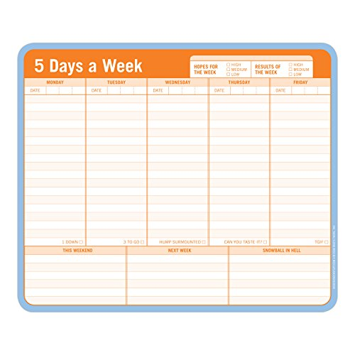 Knock Knock 12600 Mousepad 5 Days a Week By Created by Knock Knock