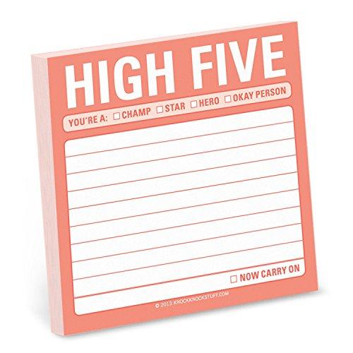Knock Knock Sticky Note: High Five By Knock Knock