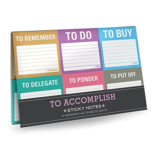 Knock Knock 12700 To Accomplish Sticky Note Packet By Created by Knock Knock