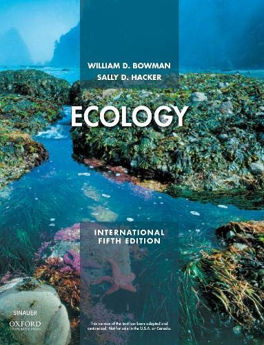 Ecology By William D. Bowman (University of Colorado at Boulder)