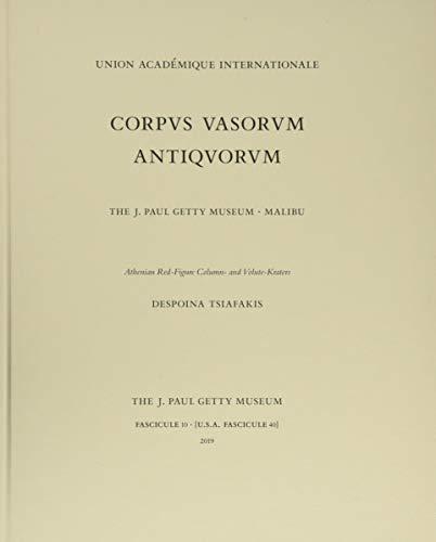 Corpus Vasorum Antiquorum, Fascicule 10 - Athenian  Red-Figure Column and Volute Kraters By Despoina Tsiafakis