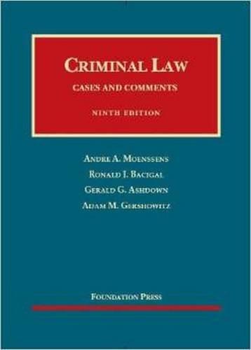 Criminal Law By Andre Moenssens