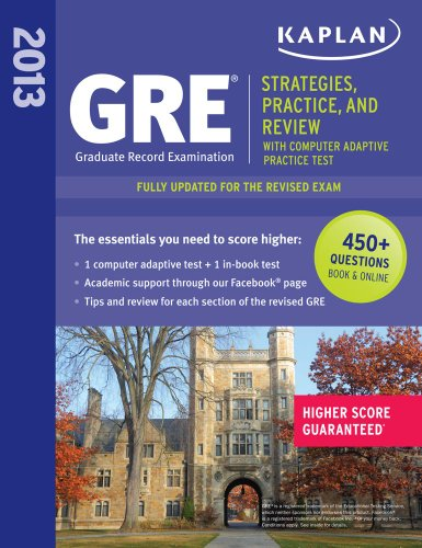 Kaplan GRE Exam By Kaplan