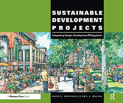Sustainable Development Projects By David R. Godschalk