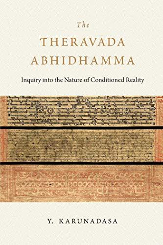 The Theravada Abhidhamma By Y. Karunadasa