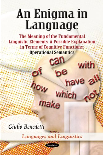 An Enigma in Language By Giulio Benedetti