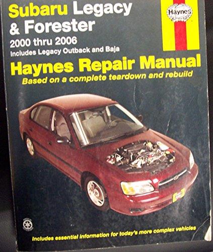 Subaru Legacy/Forester 2000-09 By Haynes Publishing
