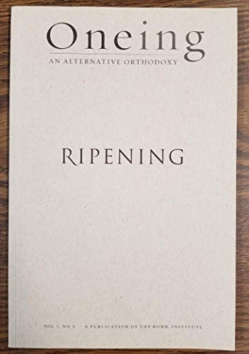 Oneing Ripening Vol 1 No 2
