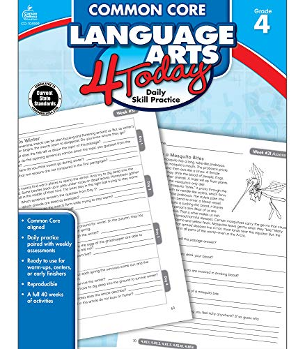 Common Core Language Arts 4 Today, Grade 4 By Compiled by Carson-Dellosa Publishing