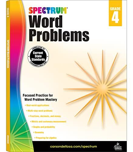 Spectrum Word Problems, Grade 4 By Spectrum