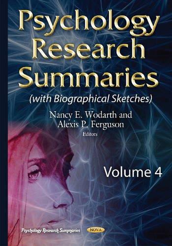 Psychology Research Summaries By Nancy E. Wodarth