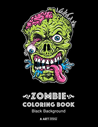 Zombie Coloring Book By Art Therapy Coloring