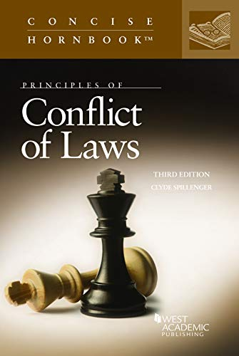 Principles of Conflict of Laws By Clyde Spillenger