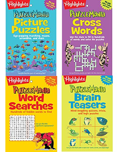 Puzzlemania Puzzle Pads Pack By Highlights