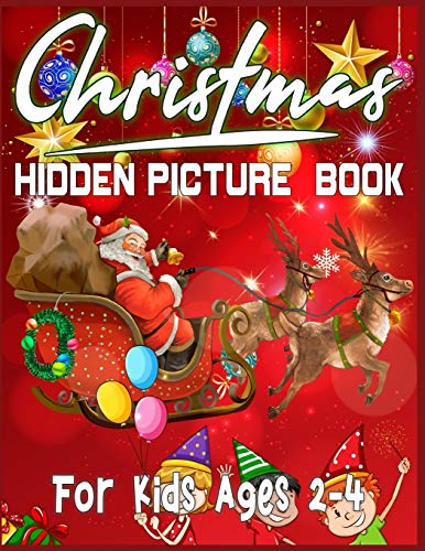 Christmas Hidden Picture Book For Kids Ages 2-4 By Sk Publishing
