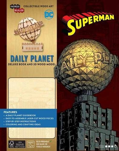 IncrediBuilds: DC Comics: Superman: Daily Planet Deluxe Book and Model Set By Manning