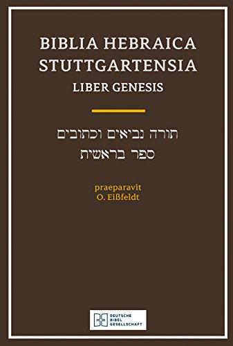 Biblia Hebraica Stuttgartensia Liber Genesis By Otto Eissfeldt