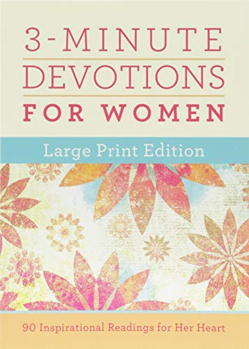3-Minute Devotions for Women Large Print Edition By Barbour Staff