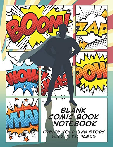 Blank Comic Book Notebook By The Whodunit Creative Design