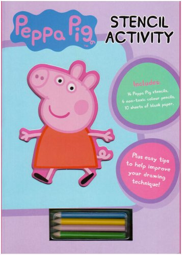 Peppa Pig Stencil Book by Peppa Pig Hardback Book The Cheap Fast Free Post