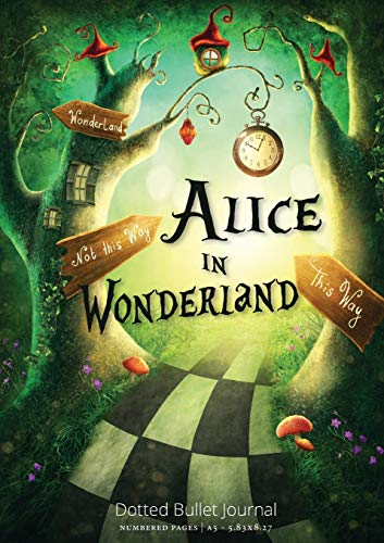 Alice in Wonderland Dotted Bullet Journal By Blank Classic