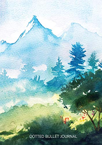 Watercolor Hillside - Dotted Bullet Journal By Blank Classic
