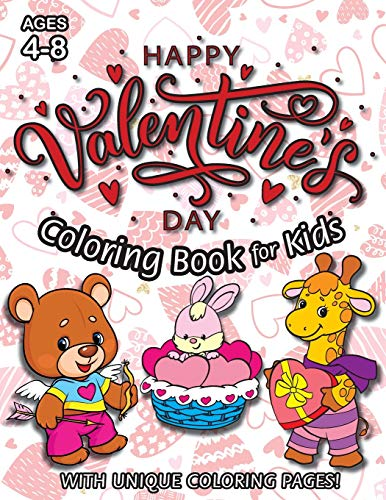 Happy Valentine's Day Coloring Book for Kids By Engage Books