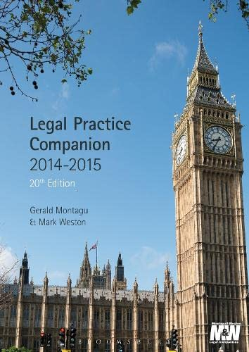 Legal Practice Companion 2014/15 By Gerald Montagu