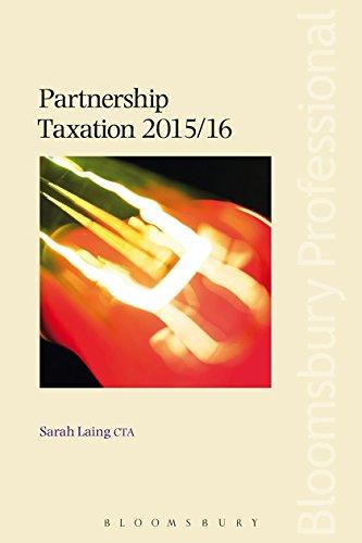 Partnership Taxation By Sarah Laing