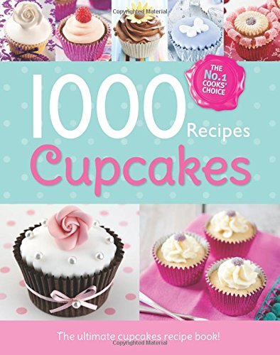 1000 Recipes - More Cupcakes - Large Format Hardback Book. Photo's and step by step instructions (Igloo Books Ltd)