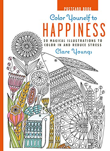 Color Yourself to Happiness Postcard Book By Clare Youngs